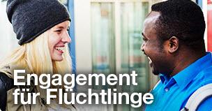 engagement fuer fluechtlinge